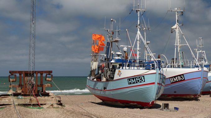 Vejers Strand Fischerboote