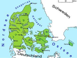 Landkarte Dänemark